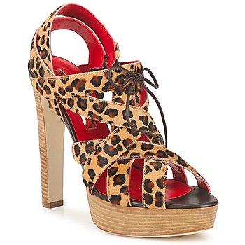 Παπούτσια Γυναίκα Σανδάλια / Πέδιλα Rupert Sanderson BRISE Leopard