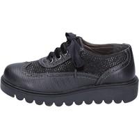 Παπούτσια Κορίτσι Derby Didiblu classiche nero pelle strass BT344 Nero