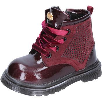 Παπούτσια Κορίτσι Μπότες για την πόλη Lulu stivaletti bordeaux pelle camoscio BT356 Rosso