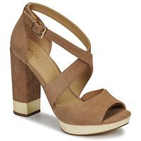 Παπούτσια Γυναίκα Σανδάλια / Πέδιλα MICHAEL Michael Kors VALERIE PLATFORM Camel