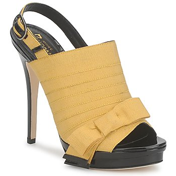 Παπούτσια Γυναίκα Σανδάλια / Πέδιλα Jerome C. Rousseau ROXY Yellow / Black