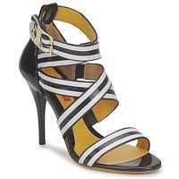 Παπούτσια Γυναίκα Σανδάλια / Πέδιλα Charles Jourdan BARBARA Black / Άσπρο