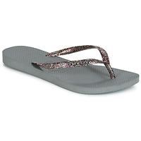 Παπούτσια Γυναίκα Σαγιονάρες Havaianas SLIM LOGO METALLIC Grey