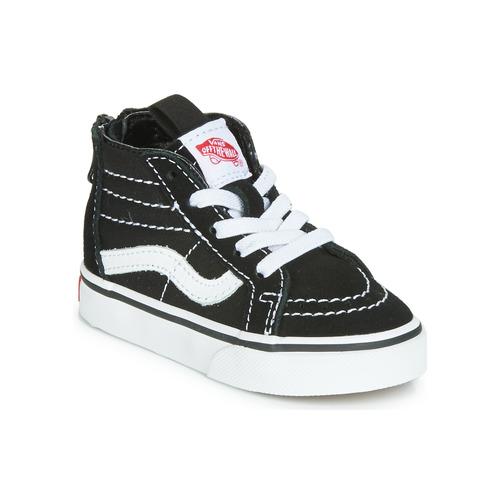 Παπούτσια Παιδί Ψηλά Sneakers Vans SK8-HI ZIP Black / Άσπρο