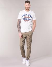 Υφασμάτινα Άνδρας Παντελόνια Chino/Carrot Jack & Jones JJIMARCO Beige