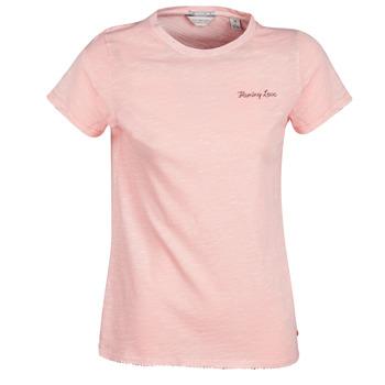 Υφασμάτινα Γυναίκα T-shirt με κοντά μανίκια Maison Scotch SS T-SHIRT Ροζ