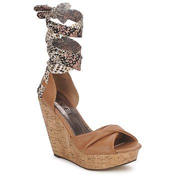 Παπούτσια Γυναίκα Σανδάλια / Πέδιλα Ravel JEMMA Camel