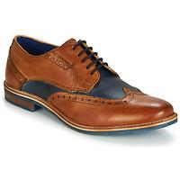 Παπούτσια Άνδρας Derby Bugatti TROISCINQ Cognac / Μπλέ