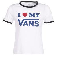 Υφασμάτινα Γυναίκα T-shirt με κοντά μανίκια Vans VANS LOVE RINGER Άσπρο