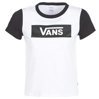Υφασμάτινα Γυναίκα T-shirt με κοντά μανίκια Vans V TANGLE RANGE RINGER Άσπρο