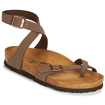 Παπούτσια Γυναίκα Σανδάλια / Πέδιλα Birkenstock YARA Brown