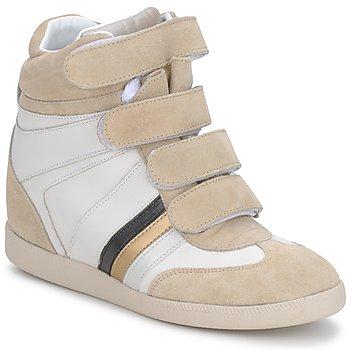 Παπούτσια Γυναίκα Ψηλά Sneakers Serafini MANATHAN SCRATCH ΑΣΠΡΟ-ΜΠΕΖ-ΜΠΛΕ