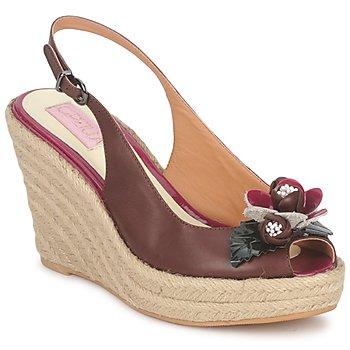 Παπούτσια Γυναίκα Σανδάλια / Πέδιλα C.Petula GLORIA Brown / FUCHSIA