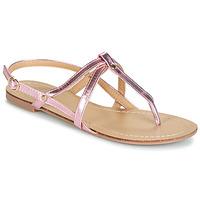 Παπούτσια Γυναίκα Σανδάλια / Πέδιλα Moony Mood JEKERINE Ροζ / Μεταλικό