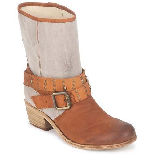 Παπούτσια Γυναίκα Μπότες για την πόλη Ikks INES Brown / Taupe