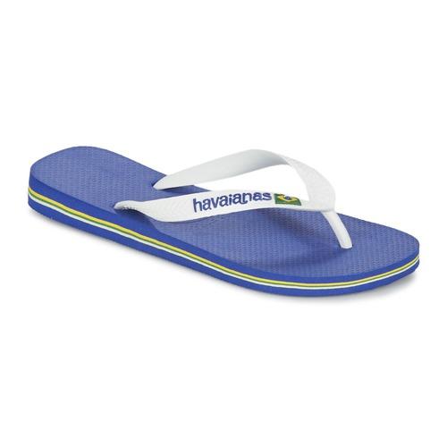 Παπούτσια Σαγιονάρες Havaianas BRASIL LOGO Άσπρο / Marine