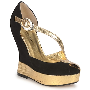 Παπούτσια Γυναίκα Σανδάλια / Πέδιλα Terry de Havilland PENNY ΜΑΥΡΟ-ΧΡΥΣΟ