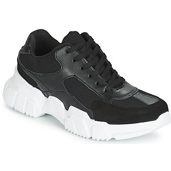 Παπούτσια Γυναίκα Χαμηλά Sneakers Yurban JILIBELLE Black / Άσπρο