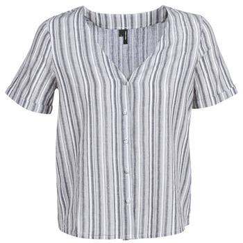 Υφασμάτινα Γυναίκα Μπλούζες Vero Moda VMESTHER Marine / Άσπρο