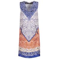 Υφασμάτινα Γυναίκα Κοντά Φορέματα Derhy FORTERESSE Άσπρο / Μπλέ / Orange