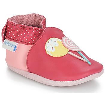 Παπούτσια Κορίτσι Σοσονάκια μωρού Robeez FUNNY SWEETS Ροζ / Άσπρο