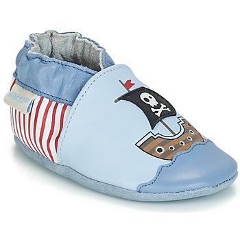 Παπούτσια Αγόρι Σοσονάκια μωρού Robeez PIRATE'S BOAT Μπλέ