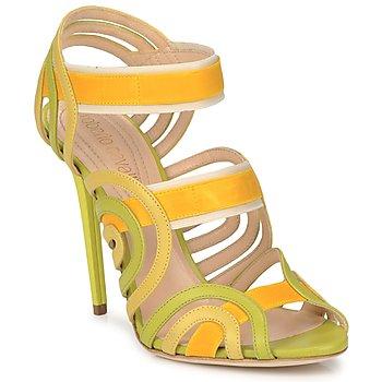 Παπούτσια Γυναίκα Σανδάλια / Πέδιλα Roberto Cavalli RPS691 Green / Yellow