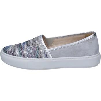 Slip on Janet Sport slip on grigio camoscio argento strass BT420