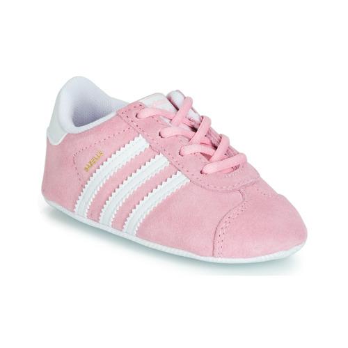 Παπούτσια Παιδί Χαμηλά Sneakers adidas Originals GAZELLE CRIB Ροζ