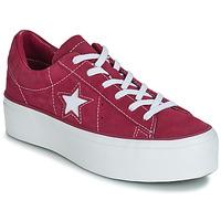 Παπούτσια Γυναίκα Χαμηλά Sneakers Converse ONE STAR PLATFORM SUEDE OX Fuchsia / Άσπρο