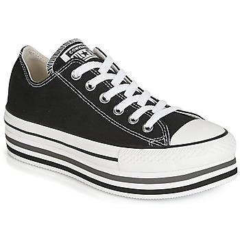 Παπούτσια Γυναίκα Χαμηλά Sneakers Converse CHUCK TAYLOR ALL STAR PLATFORM EVA LAYER CANVAS OX Black