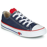 Παπούτσια Κορίτσι Χαμηλά Sneakers Converse CHUCK TAYLOR ALL STAR SUCKER FOR LOVE DENIM OX Μπλέ