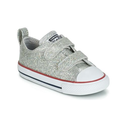 Παπούτσια Κορίτσι Χαμηλά Sneakers Converse CHUCK TAYLOR ALL STAR 2V SPARKLE SYNTHETIC OX Grey