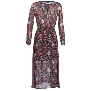 Υφασμάτινα Γυναίκα Μακριά Φορέματα Ikks BN30065-02 Black / Red / Grey