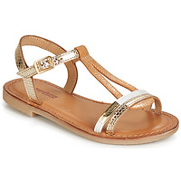 Παπούτσια Κορίτσι Σανδάλια / Πέδιλα Les Tropéziennes par M Belarbi BADA Gold / Άσπρο