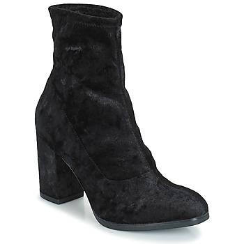 Παπούτσια Γυναίκα Μποτίνια Caprice  Μαυρο / Βελούδο