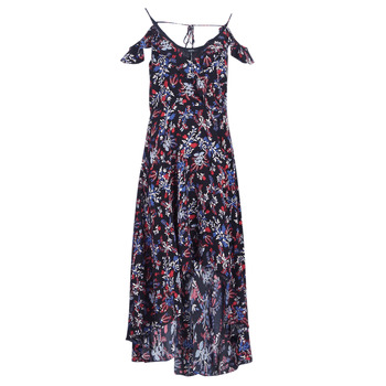Μακριά Φορέματα Guess BORA Σύνθεση: Viscose / Lyocell / Modal,Βισκόζη & Σύνθεση επένδυσης: Matière synthétiques,Πολυεστέρας