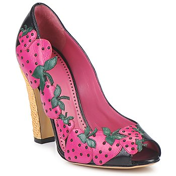 Παπούτσια Γυναίκα Γόβες Moschino Cheap & CHIC ALBIZIA Ροζ-μαυρο-πρασινο