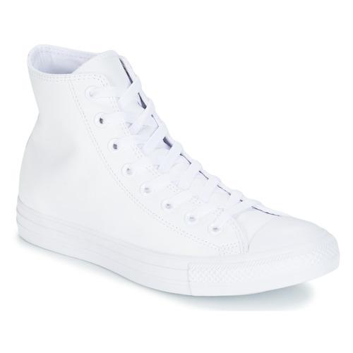 Παπούτσια Ψηλά Sneakers Converse ALL STAR MONOCHROME CUIR HI άσπρο