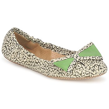 Παπούτσια Γυναίκα Μπαλαρίνες Maloles BLANCHE Black / Άσπρο / Green