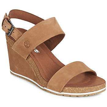 Παπούτσια Γυναίκα Σανδάλια / Πέδιλα Timberland CAPRI SUNSET WEDGE Brown