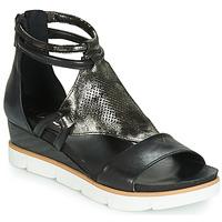 Παπούτσια Γυναίκα Σανδάλια / Πέδιλα Mjus TAPASITA Black / Μεταλικό