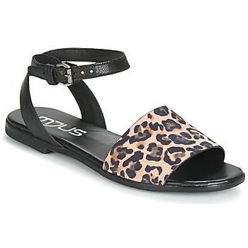 Παπούτσια Γυναίκα Σανδάλια / Πέδιλα Mjus CHAT LEO Black / Leopard
