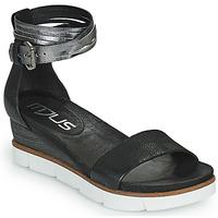 Παπούτσια Γυναίκα Σανδάλια / Πέδιλα Mjus TAPASITA Black / Silver