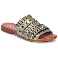 Παπούτσια Γυναίκα Τσόκαρα Mjus CHAT MULE Kaki / Μεταλικό