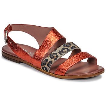 Παπούτσια Γυναίκα Σανδάλια / Πέδιλα Mjus CHAT BUCKLE Red / Leopard