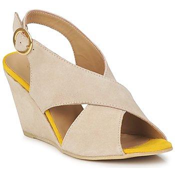 Παπούτσια Γυναίκα Σανδάλια / Πέδιλα Pieces OTTINE SHOP SANDAL TAUPE