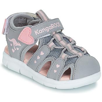 Παπούτσια Κορίτσι Σανδάλια / Πέδιλα Kangaroos K-MINI Grey / Ροζ