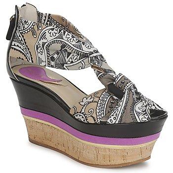 Παπούτσια Γυναίκα Σανδάλια / Πέδιλα Etro 3467 Grey / Black / Violet
