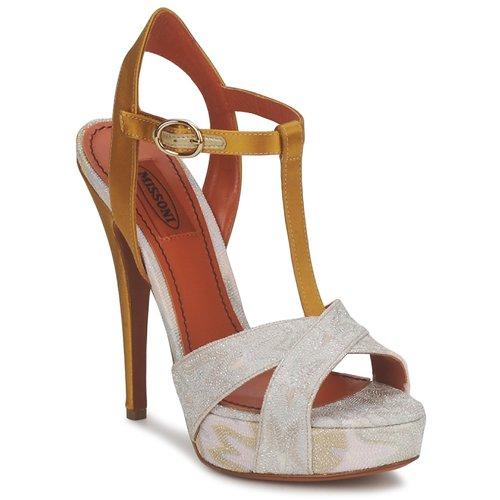 Παπούτσια Γυναίκα Σανδάλια / Πέδιλα Missoni TM30 Χρυσο / Ασημι